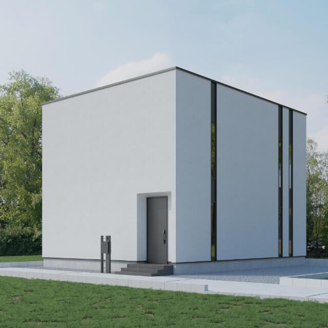 「規格型コンプリート住宅」casa cube